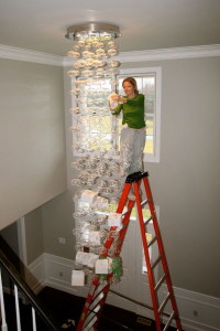 chandelier-ladder